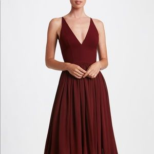 Dress The Population-Alicia Dress, Small Burgandy